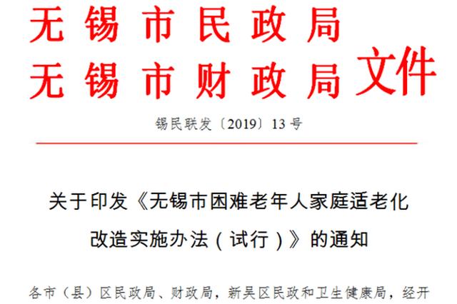"""政策支持!无锡版""""梦想改造""""每户最高补贴8000元"""
