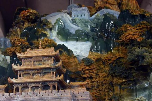 """世界最大玉雕""""长城""""在岫岩竣工"""
