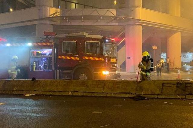 暴力示威者于湾仔纵火及刑事毁坏,香港警方逮捕多人