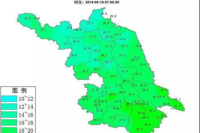 台风本周末将影响江苏 21日起江苏部分地区有雨