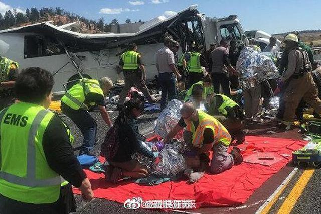 中国驻美使馆:犹他州巴士事故致中国游客4死26伤