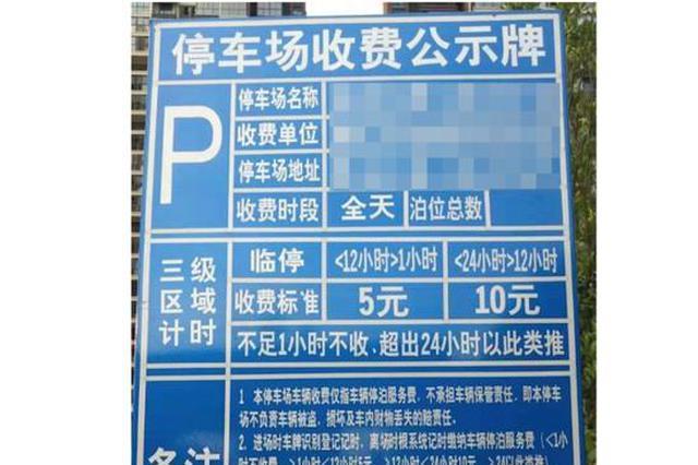 杜绝乱收停车费 南京6家小区物业公司被处罚