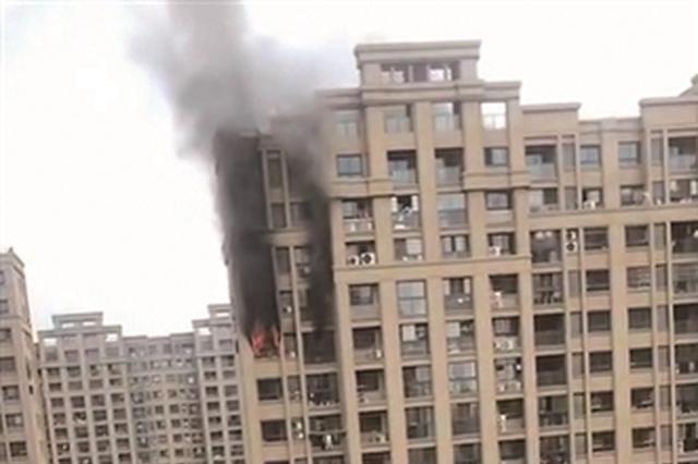 南京浦口一高层居民楼 发生火灾无人员伤亡