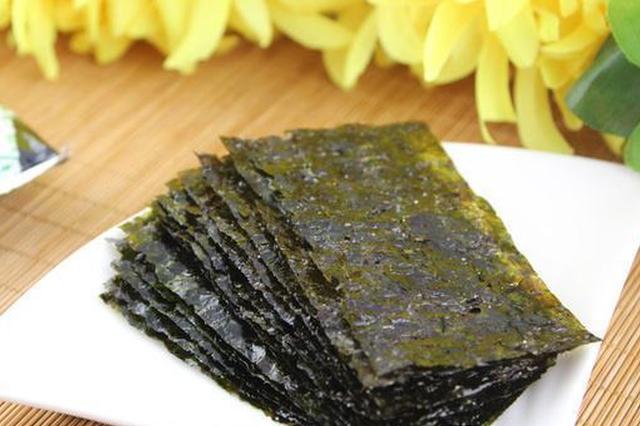 江苏公布10批次不合格食品 4种是海苔制品