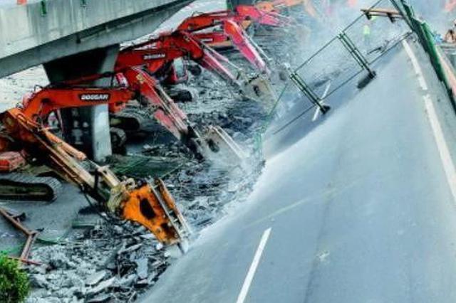 交通运输部公布初步调查结果 严重超载导致无锡桥梁侧翻