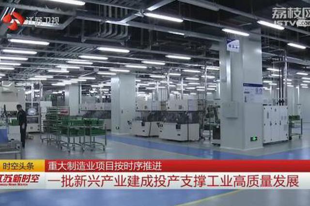 江苏各地悉心扶持重点工业项目 重大制造业项目按时序推进