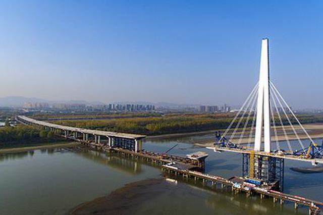 探访南京长江五桥:世界首座轻型钢混结构斜拉桥,明年底通车