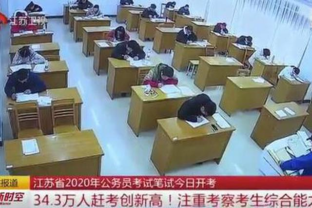 江苏省2020年公务员考试笔试开考
