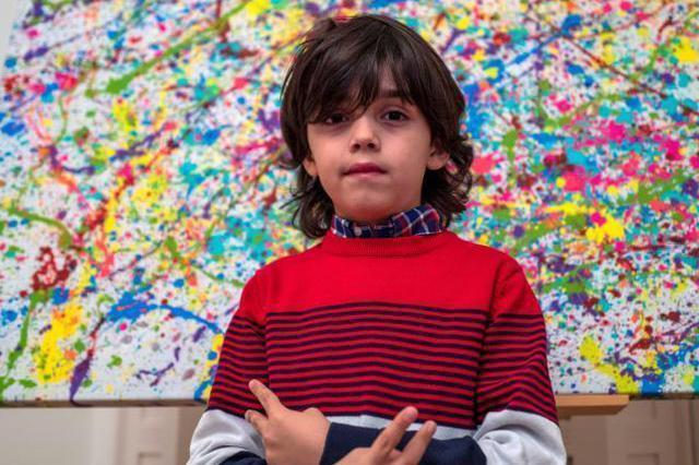 """7岁画童被称""""学前毕加索"""""""