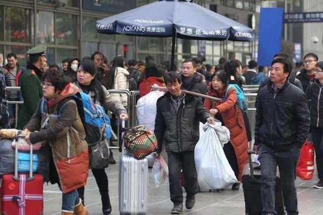 春运第九天全国铁路预计发送旅客1242万人次