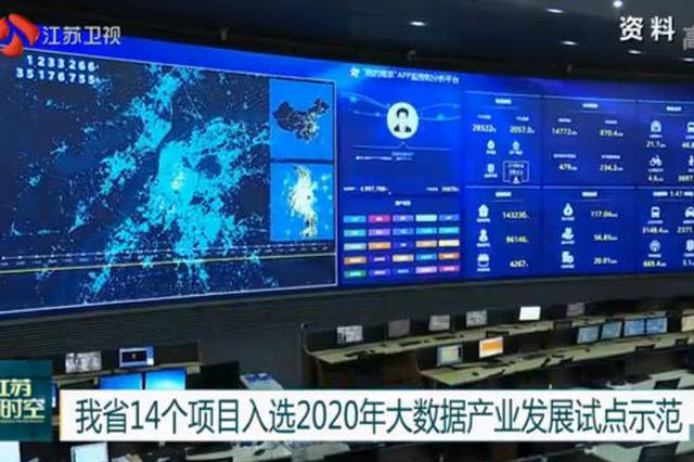 江苏14个项目入选2020年大数据产业发展试点示范