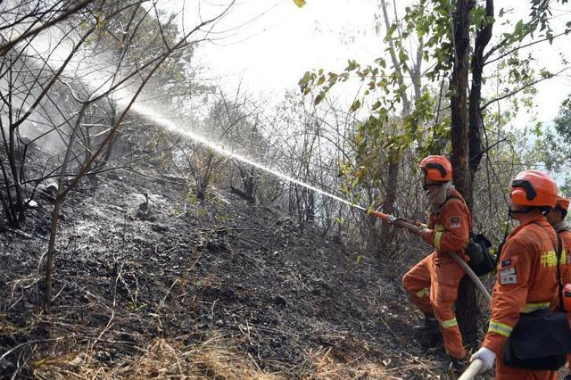云南腾冲发生森林火灾当地正全力扑救