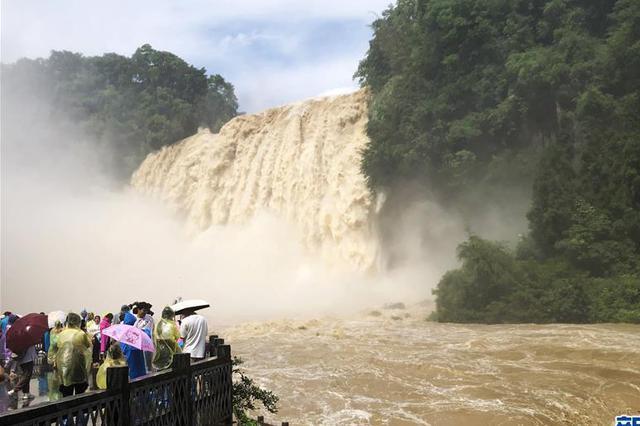 贵州黄果树瀑布迎来今年入汛最大水量