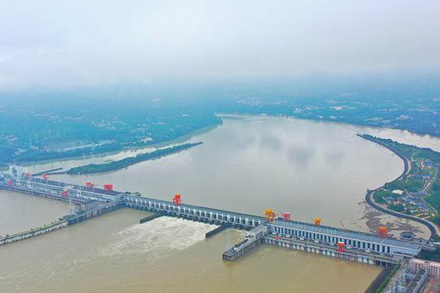 湖北省宜昌 长江葛洲坝水利枢纽工程开闸泄洪