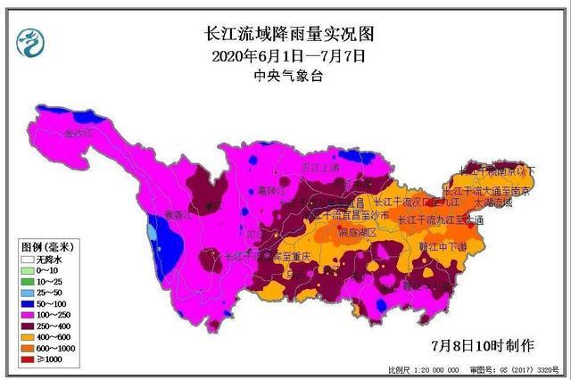 暴雨将重启 长江中下游地区6月以来降雨量已超98年