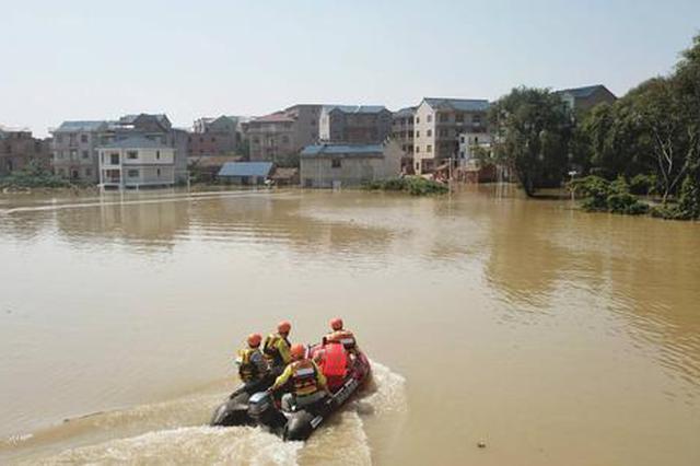 鄱阳县莲湖乡龙口村遭洪水围村 无人员伤亡
