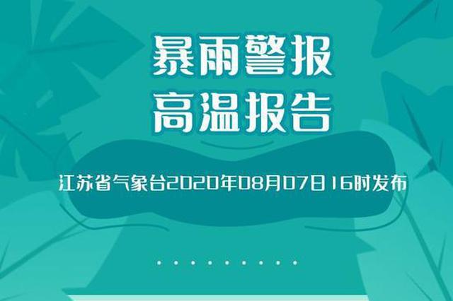 水深火热!未来三天江苏中北部地区有强降水 苏南高温