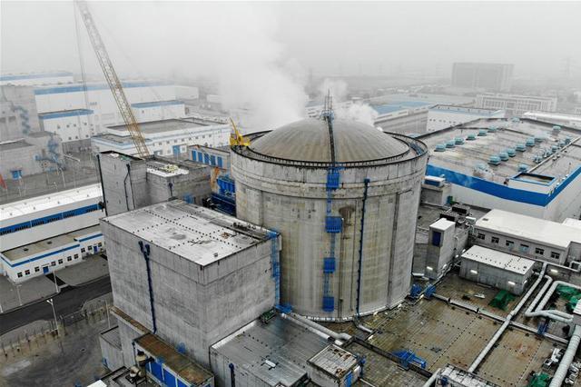 江苏连云港:田湾核电5号机组首次并网成功