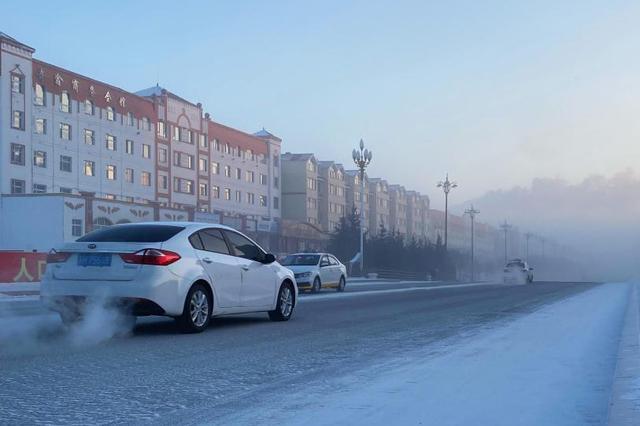 中国冷极:零下40℃根河被冰雾笼罩