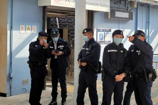 香港中文大学3名学生被警方拘捕 涉嫌与港铁大学站冲突有关