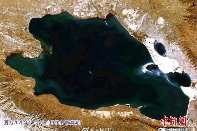 """卫星拍摄""""高原蓝宝石""""青海湖""""证件照"""""""