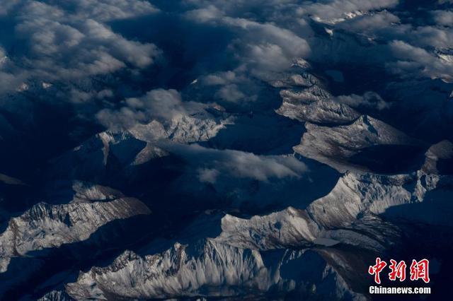 鸟瞰青藏高原 航拍雪域高原美景