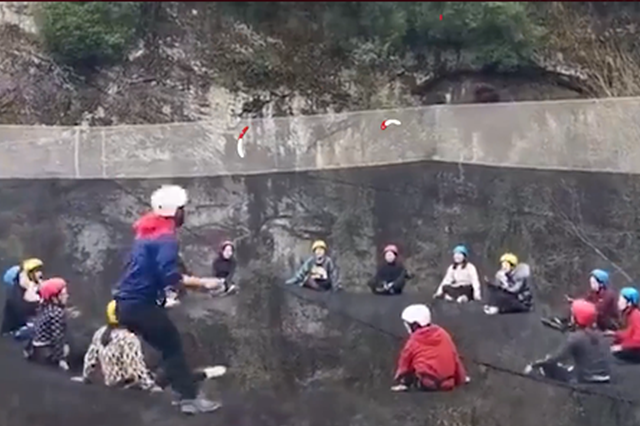 游客在22米高空悬网上蹦跳 慈利文旅局:已关停