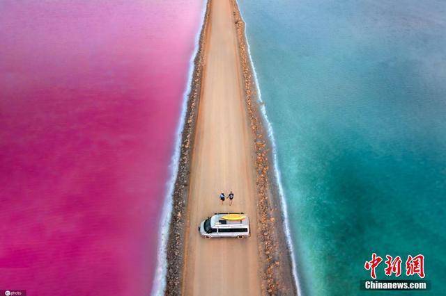 澳大利亚糖果系粉色湖 少女心满分