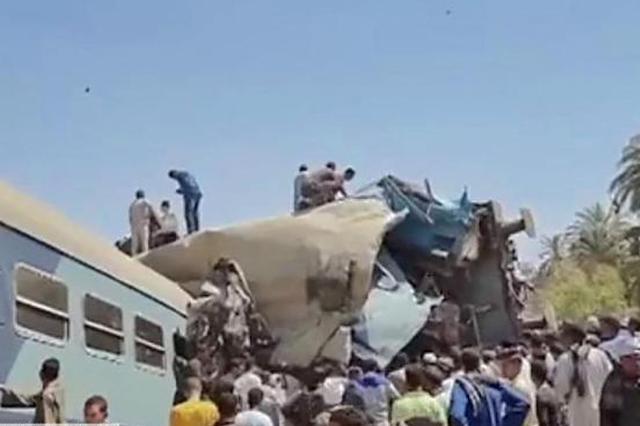 埃及两列车相撞致32死:疑有人拉下紧急制动阀所致