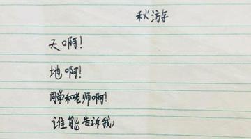 南京小学生写《秋游》诗上热搜