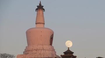 2019年首轮圆月升空 全国多地赏美景