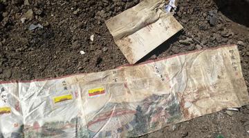 埃行坠机中方搜寻人员发现中文遗物