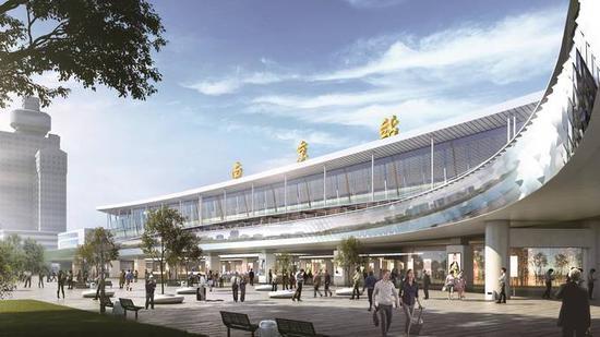 南京站整治提升后的效果图。环湖办供图