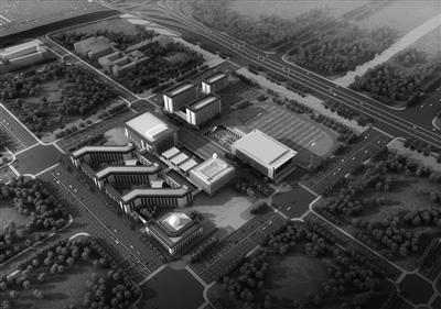 南京一中江北校区效果图。
