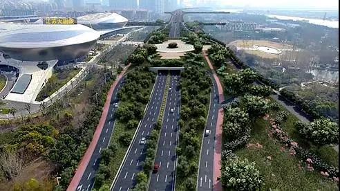 扬子江大道改造效果图。