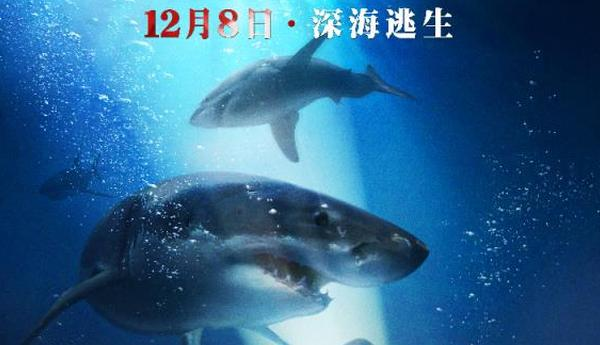 《鲨海》南京试映 长腿姐妹身陷群鲨绝地逃生