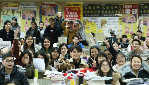 王凯携《英雄本色2018》突袭南京高校 暖心助力学子考研