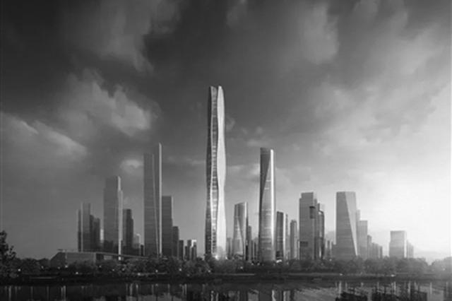 580米!南京第一高楼开工了 地铁2号线西延至鱼嘴地区