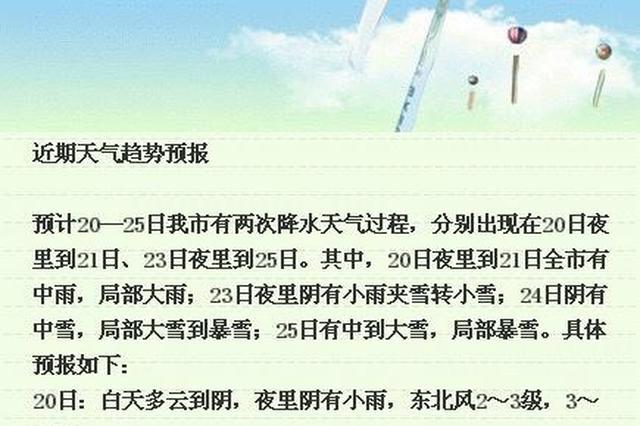 南京24-25日阴有中到大雪局部暴雪 27-28日还有中到大雪