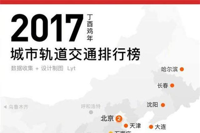 2017城市轨道交通排行榜发布 南京排名全国第四