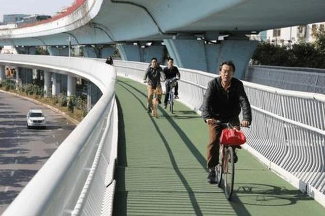 """靖江首条""""空中自行车道""""即将开建 可两人并列骑行"""