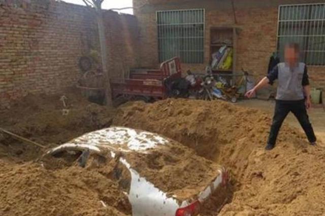 司机交通肇事连撞3人后逃逸 怕担责在家挖坑埋车