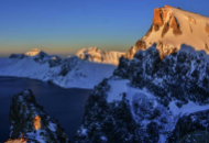 长白山天池 冬日晨之光