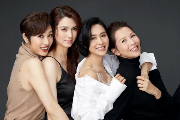 蔡少芬、朱茵、陈法蓉、洪欣合体 身材依旧似少女!