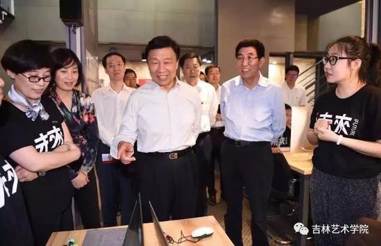 中共中央政治局委员、国家副主席李源潮莅临i未来参观指导