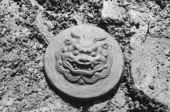 高浮雕兽面瓦当 (资料图片)