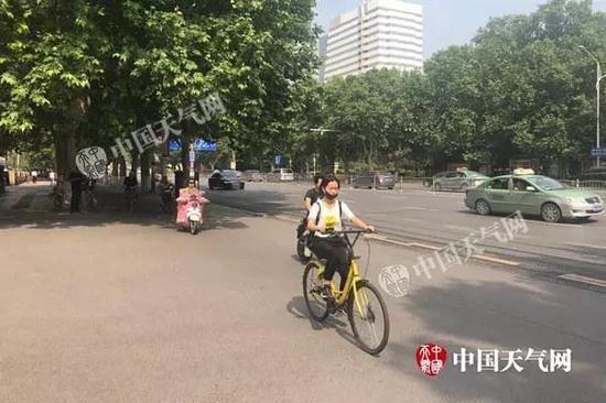 12日上午,河南郑州天气晴好,气温明显回升。(图/魏芳)