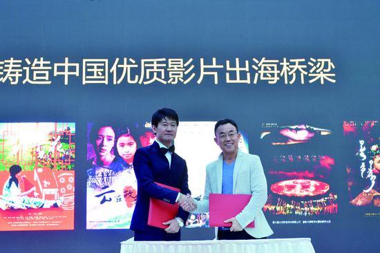 """7日,第十四届中国长春电影节项目发布系列活动之""""新一代影视人圆梦传承""""计划发布会在长影举行。 苑激刚 摄"""