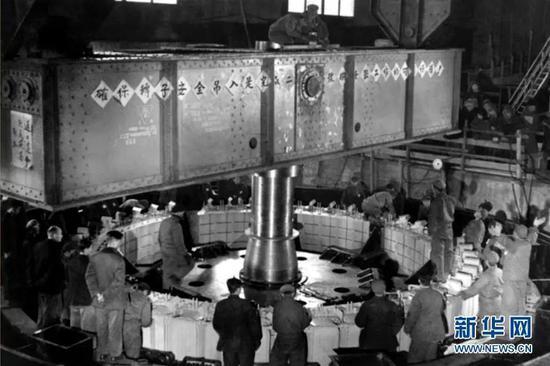 1953年拍摄的丰满电站2号机组