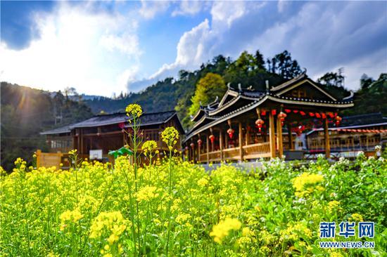 图为龙胜各族自治县马堤乡张家村的春天景象。